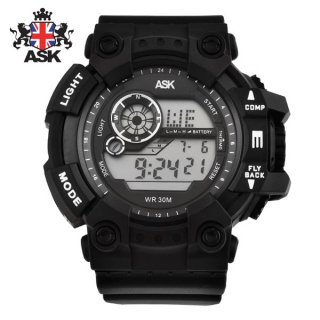 [더산시계] ASK SK332K 국내브랜드 에스크 전자시계 디지털시계 손목시계 전자손목시계 스포츠시계