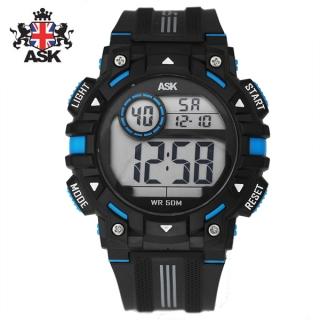 [더산시계] ASK SK343B 국내브랜드 에스크 전자시계 디지털시계 손목시계 전자손목시계 스포츠시계